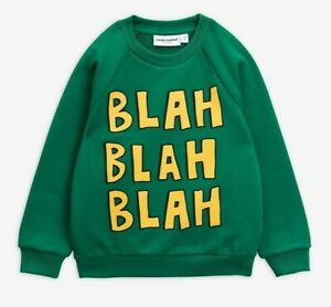 AUTHENTIC Mini Rodini Blah SP Sweatshirt - Green - 92/98 - 100% Organic Cotton