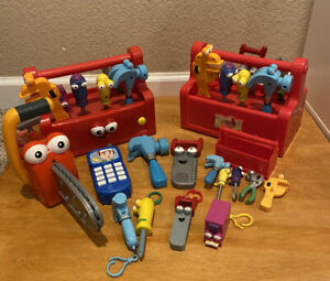 Handy Manny Talking Singing Dancing Toolbox Chainsaw Keychains Lot
