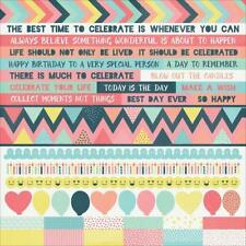 Birthday & Occasions Multi-Coloured Scrapbooking Stickers