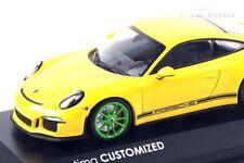 1:43 MINICHAMPS 2016 PORSCHE 911 991 R Yellow Green car.tima CUSTOMIZED LE 33 pc