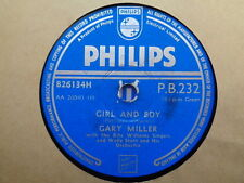 GARY MILLER - Girl And Boy / I Understand Just How You Feel 78 rpm disc