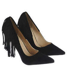 High Heel Pointed Toe 4.75 in Stiletto Sexy Women's Black Shoe US11