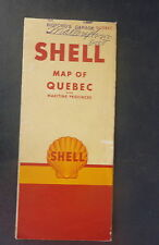 1951 Quebec Maritime Provinces   road map Shell   oil gas Canada radio log