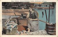 Hollywood California~Mary-Pickford Fairbanks~Baskets of Fish~Wears Headset 1920s