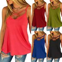 Fashion Sleeveless Vest Women Solid Color V-Neck Shirt Ladies Blouse Tank tops