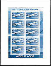 FRANCE 2006.FEUILLE DE 10 TIMBRES NEUF.AVION AIRBUS A 380. PA N° F 69a .