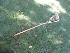 "2x Vintage Stx Wood w/ Leather Straps Lacrosse 42"" Stick great used condition"