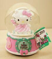 New 2019 Hello Kitty Sanrio Musical Pink Holiday Christmas Snow Globe Music Box