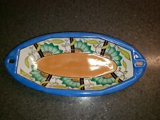 Antique 1918 Mark Hand Painted Noritake Lusterware Celery Art Deco Dish/Bowl