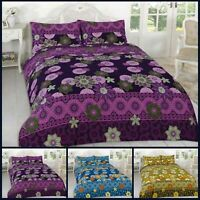 Floral Duvet Cover Set With Pillowcases Size Single Double King Super Willow