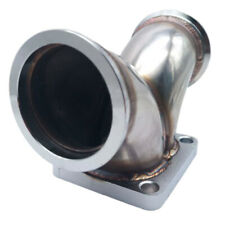 """turbo T4 Twin Scroll Flange to 2.5"""" V-band Dual Inlet Y Elbow Exhaust Adapter"""