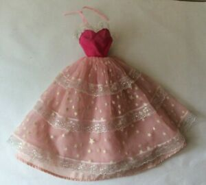 Barbie doll 1985 Dream Glow Outfit # 2248 Glow in the dark Pink Starry Dress