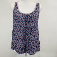 Mossimo Women's Floral Front Gray Back Sleeveless Tank Top Size Medium