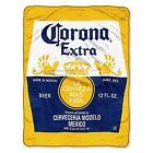 "Corona Bottle Label Micro Super Plush Soft Throw Blanket 46"" x 60'' Beer"