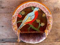 Handmade folk art wall hanging pigeon pin cushion hand painted kitsch George IA