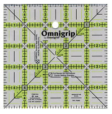 """5"""" x 5 inch SQUARE OMNIGRIP RULER~RN5~GREAT TO CUT CHARM SQUARES BY OMNIGRID"""