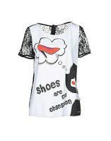 Top T-Shirt Donna Maglia BLUGIRL FOLIES Blusa I203 Bianco/Nero Tg 46