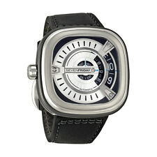 Sevenfriday M Series Silver Dial Black Rubber Automatic Mens Watch M1