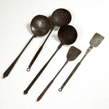 Assorted Wrought Iron Hearth / Kitchen Utensils, Lot Of Five Lot 1463