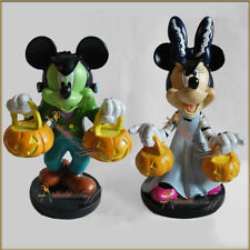 "TWO 2017 CVS DISNEY  HALLOWEEN FIGURINES, MICKEY AND MINNIE MOUSE 6"" TALL."