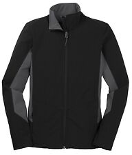 LADIES MICROFLEECE LINED, SOFT SHELL, WATER RESISTANT, ZIP UP, JACKET, XS-4XL
