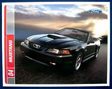 Prospekt brochure 2004 Ford Mustang  (USA)  40th.Anniversary Edition