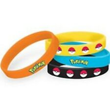 Pokemon Pikachu & Friends Rubber Bracelets 4 Count