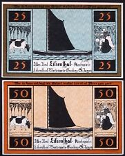 """LILIENTHAL 1921 """"Sailboats, Farming, Cows"""" series D complete set Notgeld Germany"""