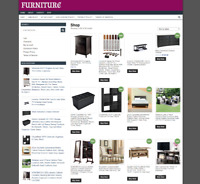 UK FURNITURE WEBSITE - DOMAIN - 1 YEARS HOSTING - EASY TO RUN