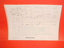 1962 MERCURY METEOR CUSTOM S-33 SIX CLYINDER V8 SEDAN FRAME DIMENSION CHART
