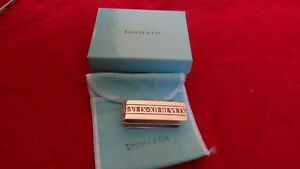 Nice Vintage 2004 Tiffany & Co Sterling Silver Atlas Double Sided Money Clip