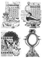 Kaisercraft Vintage Style New Unmounted Clear Rubber Stamp For Card Making Craft