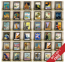 VINTAGE TRAVEL POSTERS * Great Countries Cities Wall Art Print * A3 or A4 Size