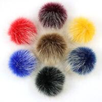 10cm Artificial Fur Pom Poms Soft Fluffy Pom Pom Balls for Winter Beanie Hat