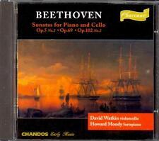 BEETHOVEN - Cello Sonatas 2 / 3 / 5 - David WATKIN / Howard MOODY - Chandos