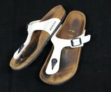 2b5aa95ab45 Kids Boys Girls Size 3 3.5 Gizeh White Birkenstock Flat Thong Sandals 34