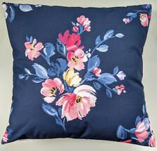 """Shabby Chic Cushion Cover in Cath Kidston Navy Paintbox Floral Flowers 16"""""""