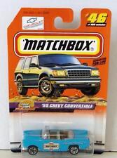 MATCHBOX 55 CHEVY CONVERTIBLE #46 BLUE MINT ON CARD DIECAST 1999