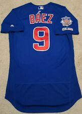 2019 JAVIER JAVY BAEZ GAME ISSUED/ USED CHICAGO CUBS JERSEY! MLB HOLO!