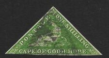 Cape of Good Hope 1858 1/- Bright Yellow-Green SG 8 (Used)