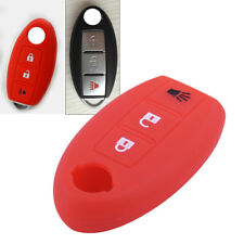 Red Remote Key Fob Case Shell Silicone Cover For Nissan TIIDA Juke Murano Leaf