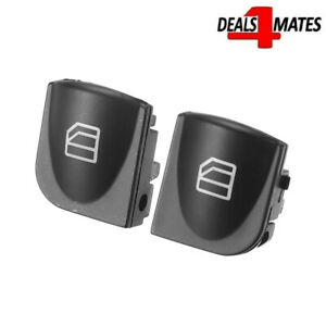 Buttons Window Switch Cover Cap For Mercedes W203 Front Left & Right