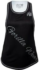 🦍UK L.Gorilla Wear Womens Florida Stringer Tank Top Black/White Fitness New+tag