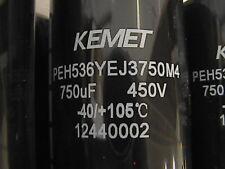 PEH536YEJ3750M4 Capacitor Bank 12 each 750 UF 450 V