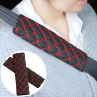 2pcs Car Safety Seat Belt Shoulder Pads Cover Cushion Harness Pad Fine