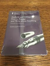 The Great Courses Analysis & Critique How To Engage And Write Volume 1 & 2