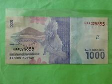 Indonesia 1000 Rupiah 1st Replacement 2016 (UNC) XAA 029855