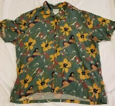 f69f9b13 Vintage VTG Diamond Head Sportswear Hawaiian Shirt Hawaii Green Hula Girl  Floral