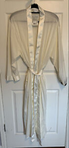 NWT HANRO BY SWITZERLAND Women's Robe, Ivory, Large, 100% Cotton, New With Tag