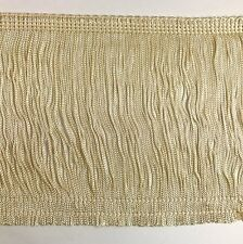 """TRIMPLACE Ivory 6"""" Rayon Chainette Fringe - 12 Yards"""